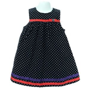 Gymboree Corduroy Polka Dot Dress w Ribbon 2T
